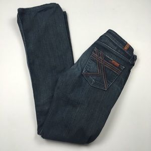 7 For All Mankind Flynt Bootcut Dark Jeans Sz 25